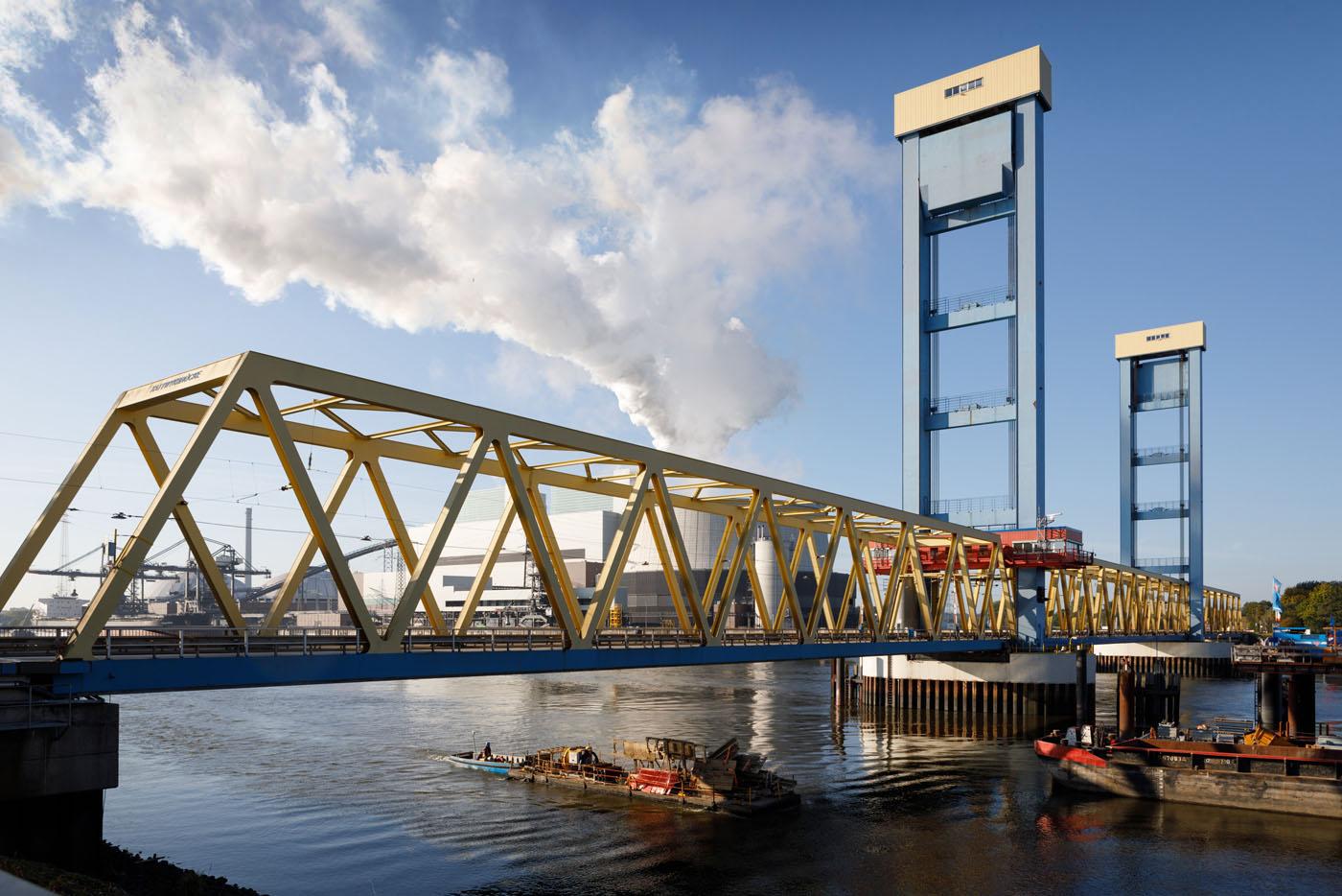 Brückenbau Hamburg Kattwykbrücke