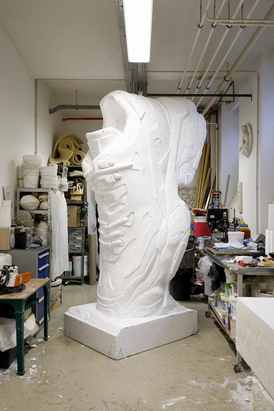 Skulptur, Styropor, Werkstatt, Theaterplastik